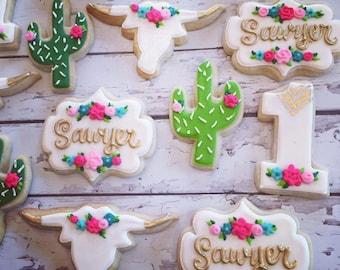Southwestern Chic Birthday Cookies