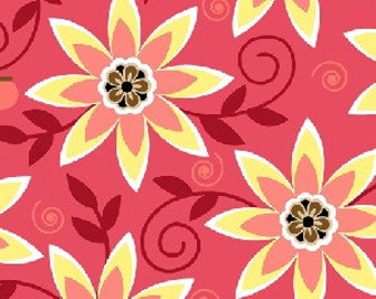 She Da Floral in Pink by Dana Brooks for Henry Glass - 1 Yard