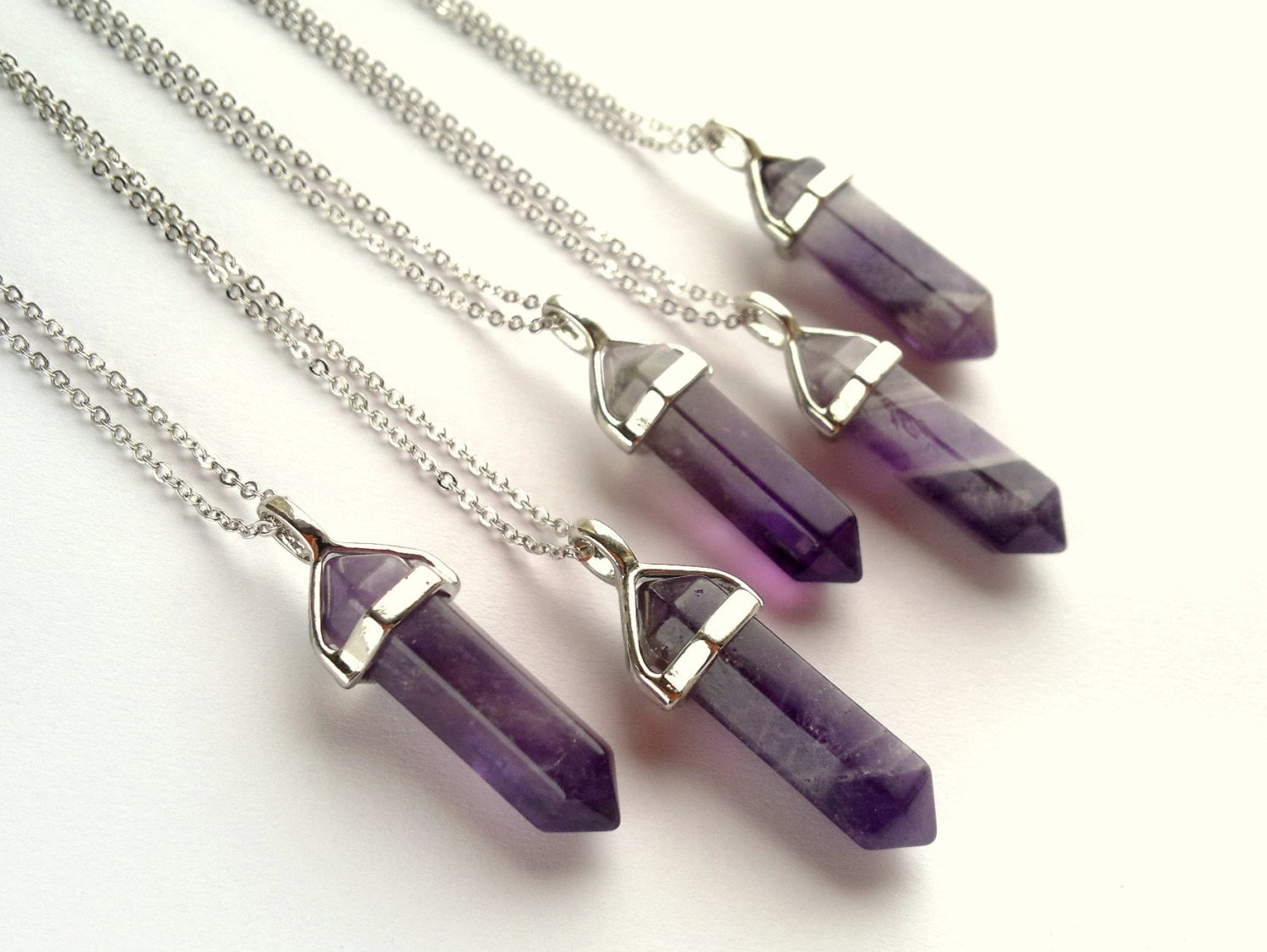 women wear jewellery accessories purple necklace stone flat