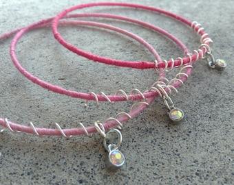 Pink Ombré Stacking Bracelets