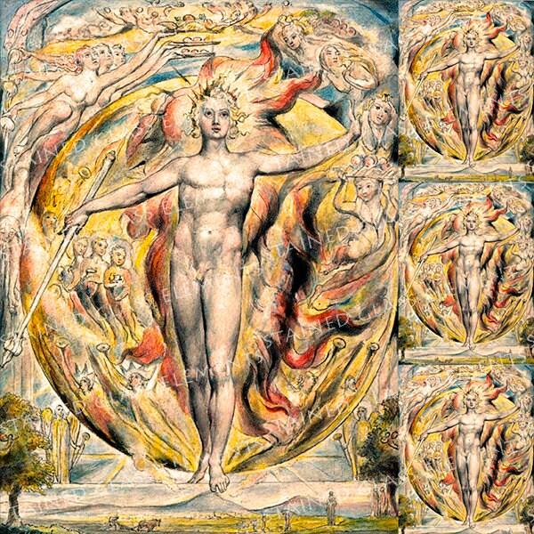 William Blake Ceramic Decal Symbolism The Sun At His Eastern Gate