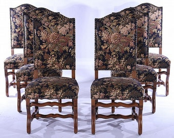 French Dining Room Upholstered Chairs  Os De Mouton   Louis XV  6 Chairs  Toral.