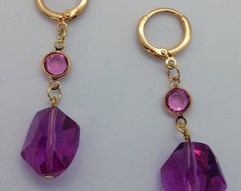 "Earrings ""Meteorite pink"""