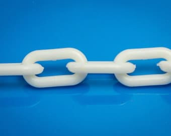 White Plastic Chain 3 mm- Sugar Glider Toy Bird Toy Craft Part