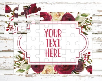 Create Your Own Puzzle - Pregnancy Announcement - Custom Puzzle - Personalized Puzzle - Announcement Ideas - Wedding Announcement - CYOP0119