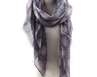Gorgeous fireworks scarf, printing long scarf flower scarf