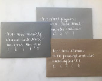 Wedding Calligraphy Addressing, Envelope Addressing - Elegant Hand Calligraphy Services for Wedding Invitations