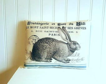 Rabbit pillow | Easter decorations | Farmhouse Decor | primitive rabbit | Rustic | Easter gift | primitive Easter decorations