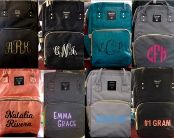 Diaper Bag Backpack, Personalized, Monogrammed, Insulated, Baby Boy Girl, Toddler, Camera Bag, Nappy, Med supply, Fast Production &Shipping!