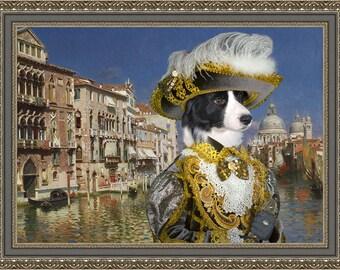 Border Collie  Art - CANVAS  Print - Fine Artwork - Dog Portrait -  Dog Painting - Dog Art - Dog Print – Custom Dog Art