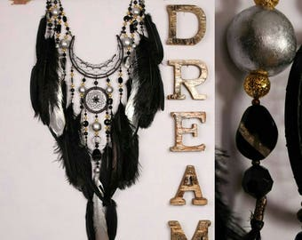 Dreamcatcher black dream catcher Arrow Copper Moon black dreamcatchers copper dreamcatcher native american Indian talisman boho wall decor