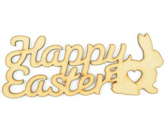Happy Easter Sign [Bunny, Chick, Easter Egg, Lamb]