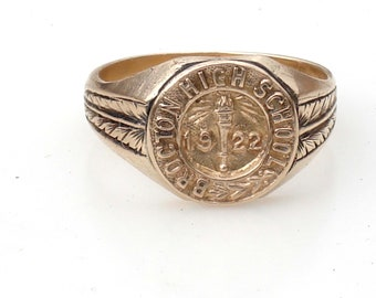Antique 14k Gold Class Ring - 1922 size 5