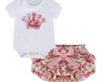 Princess Set inc. Romper & Ruffle Bloomers
