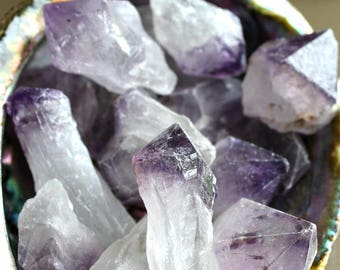 Natural Amethyst Points | Purple Crystal | Healing Stone | Feng Shui | Metaphysical | Altar Stone | Amethyst Grid Point | Raw Amethyst