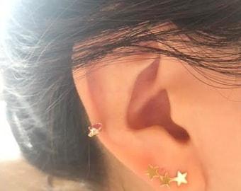 Star Stud Earrings/Gold filled Earrings/ Tiny Star Earrings