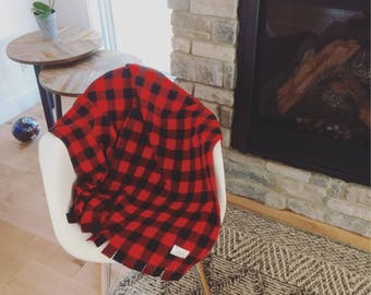 "Buffalo Plaid Bedspread / blanket 40 ""x 60"""