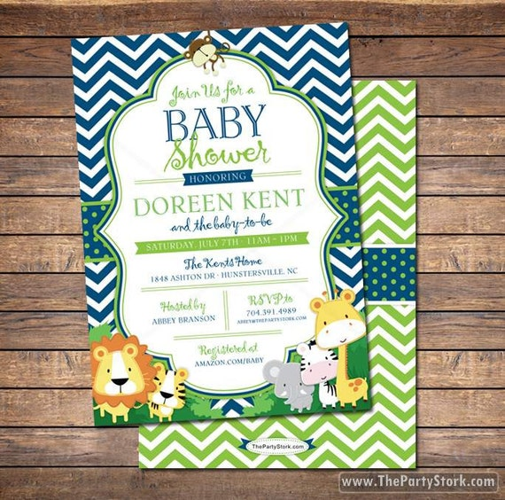 Safari baby shower invitation jungle safari baby shower filmwisefo