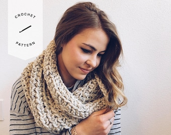 CROCHET PATTERN x Infinity Cowl, Circle Scarf