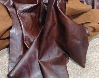 AB166.  Brown Pull-Up Leather Cowhide,Partial