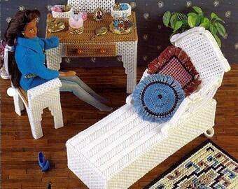 Vanity Room / Barbie Furniture Plastic Canvas Patterns Annies Attic FP10-01