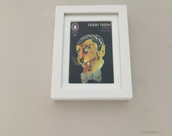 Classic Penguin Science Fiction Book cover print- framed - Tiger! Tiger!
