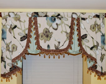 Elegant Window Valance | Window Treatment | Curtain