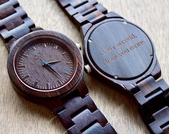 FREE ENGRAVING, Mens Wood Watch, Wooden Watch for men , Gift for him, Mens Wooden Watch, Anniversary Gift, Wood Watch, Wooden Watch, Wood