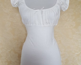 Cream peasant blouse -size s/m and m/l