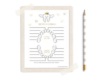 Tooth fairy gifts etsy gold lost tooth chart tooth fairy lost tooth receipt instant digital download ccuart Choice Image