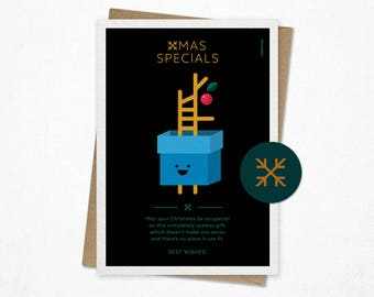 Xmas Specials   Funny Christmas card   Holiday card   Giclee print   Gift