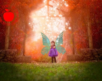 Instant Download! Digital Backdrop, Premium fine art  background PSD  template for photographers, HEAVENS GATE