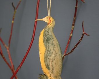 Penguin - Wooden bird hanging
