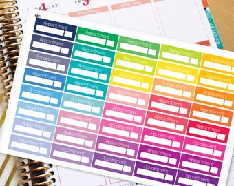 Appointment Planner Stickers Erin Condren Life Planner (ECLP) - 40 Appointment Stickers (#6021)