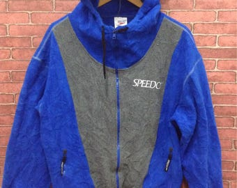MEGA SALE !! Speedo Sweater Hoodies Full Zipper Nice Design Sportwear Brand Medium Size