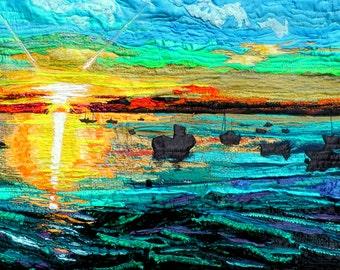 Parrog Sunset. Sunset. Pembroke. Sea.