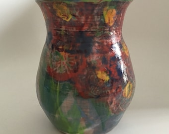Sweet vintage vase from Wildflower Pottery, signed by Richard Kunkel