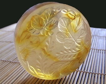 Chamomile Bergamot - Handmade Glycerin Floral Soap with Organic Calendula Petals