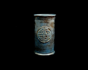 Stoneware Celtic Knot Cup