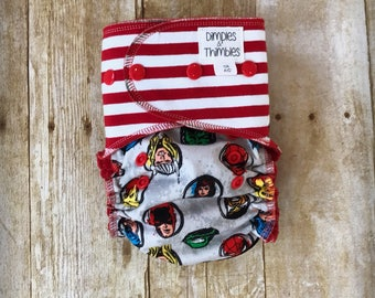 Super Heroes Embroidered One Size AIO AI2 Cloth Diaper ***READY To SHIP!***