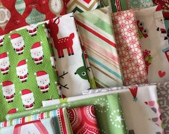SALE Fabric Scraps, Christmas Scrap Fabrics, Pack of Designer Fabric, Fabric Shoppe fabrics. Best Seller! Limited quantity of these!! 1/2 LB