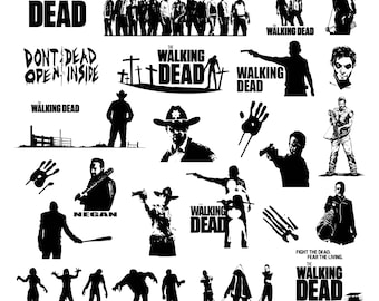 The Walking Dead Svg/Eps/Png/Jpg/Cliparts,Printable, Silhouette and Cricut File !!!