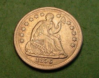 Seated Half Dime 1856 Nice details <> # ET1297