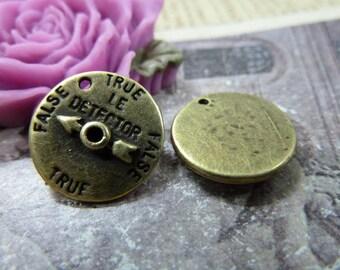 10pcs 16mm The Hang Antique Bronze Retro Pendant Charm For Jewelry Bracelet Necklace Charms Pendants C1243