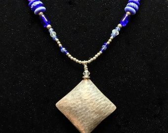 """Sterling """"Kite"""" Necklace (Handcrafted)"""