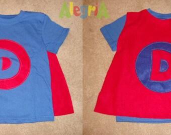 Cape shirts - Personalized super hero cape t-shirt