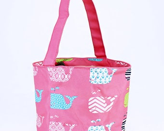 Pink Whale Easter Bucket | Monogram Easter Basket | Kids Easter Bag | Collapsible Candy Bucket | Monogram Trick or Treat | Easter Egg