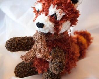 Rufus the Snuggly Plush Amigurumi Red Panda Crochet Pattern
