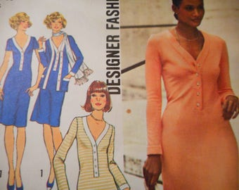 Vintage 1970's Simplicity 7131 Dress Sewing Pattern Size 14 Bust 36