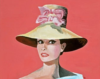 Audrey Loves Pink Giclee Print
